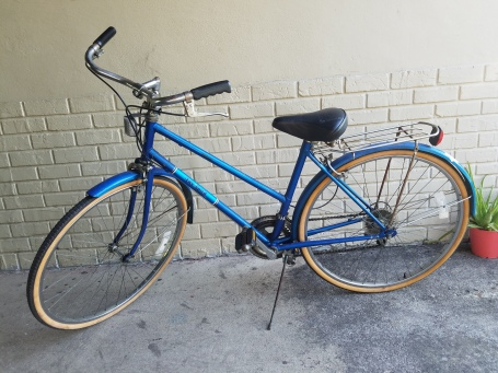 Free Spirit blue bicycle