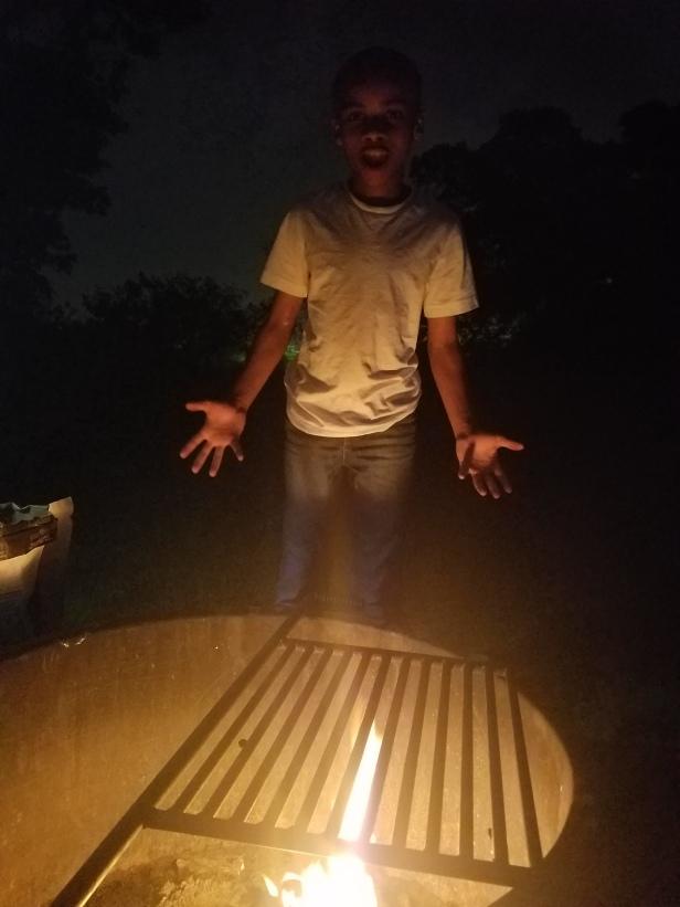 Camping Austin fire