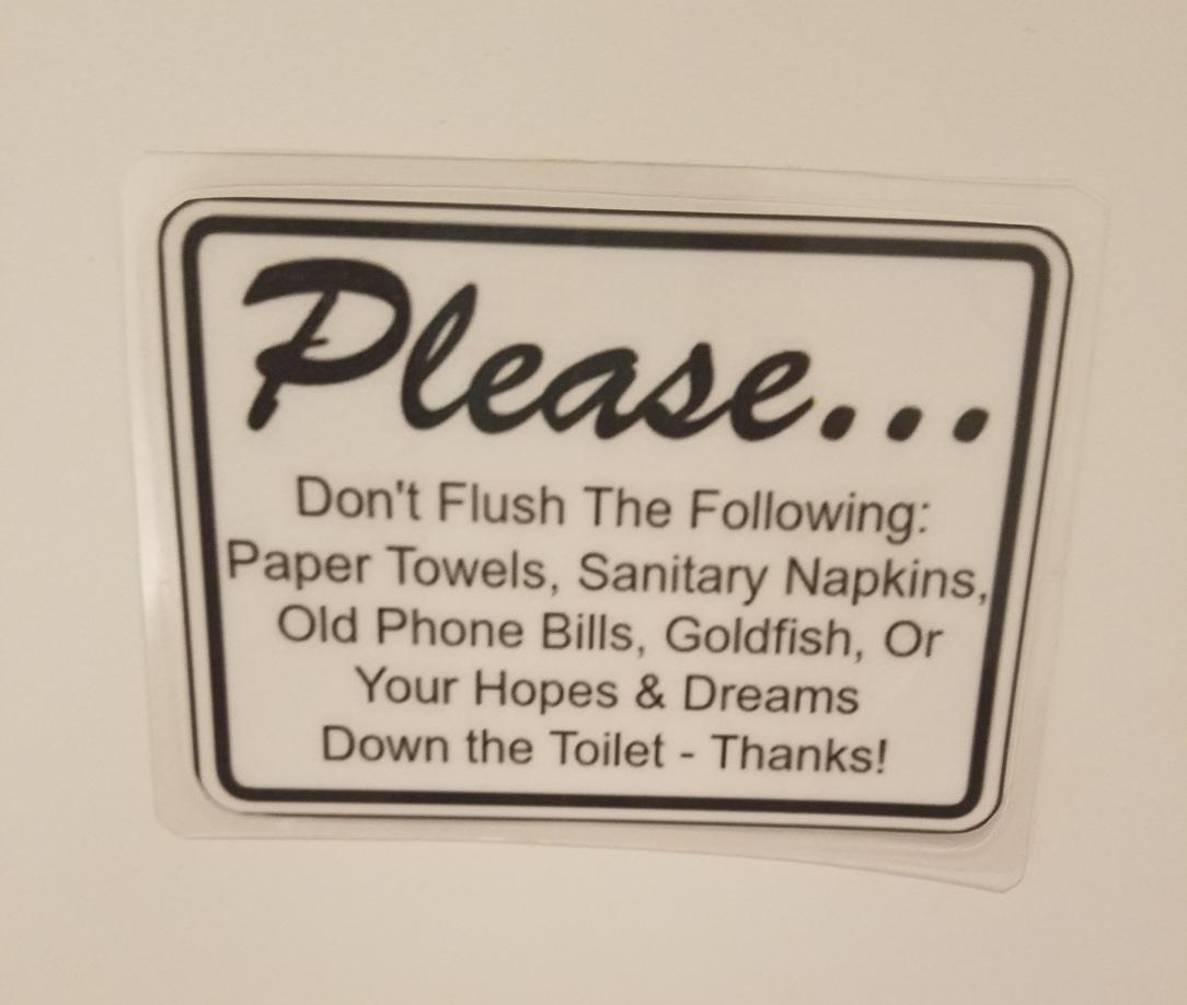 Thailand restroom sign