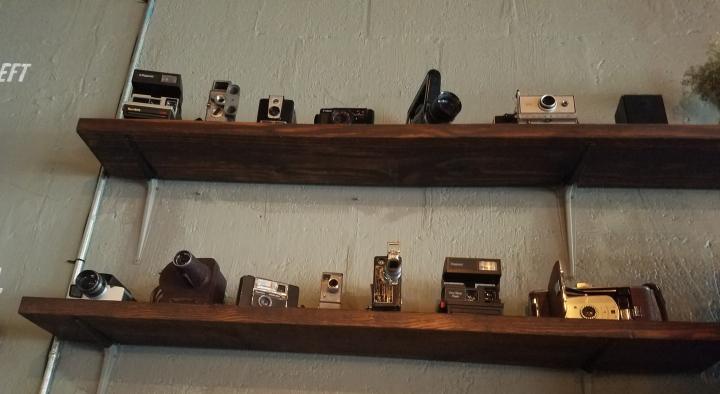 Brew Urban Cafe FAT Village Fort Lauderdale artwalk vintage cameras