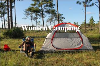 Women Camping. Starting Late. iwannabealady.com