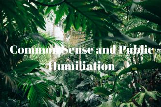Common Sense and Public Humiliation. iwannabealady.com society modern fable