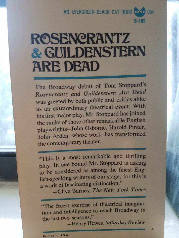 iwannabealady.com book lovers collection choosing a new book lifestyle blogger rosencrantz and guildenstern are dead by Tom Stoppard