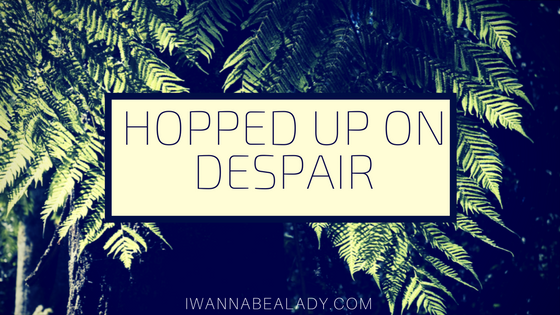 iwannabealady.com hopped up on despair finding the positive writing therapy