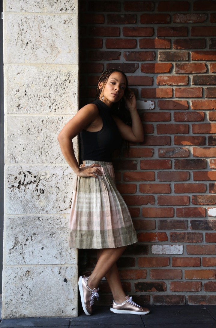 ootd pleated skirt and crop top iwannabealady.com fashion