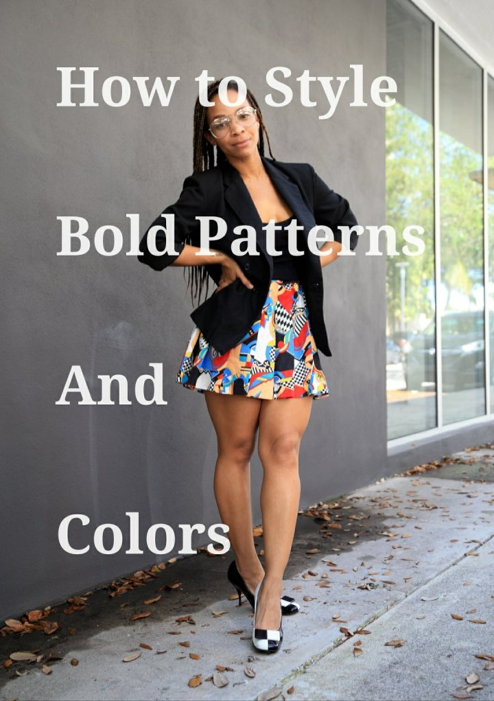 how to style bold patterns and colors iwannabealady.com fashion