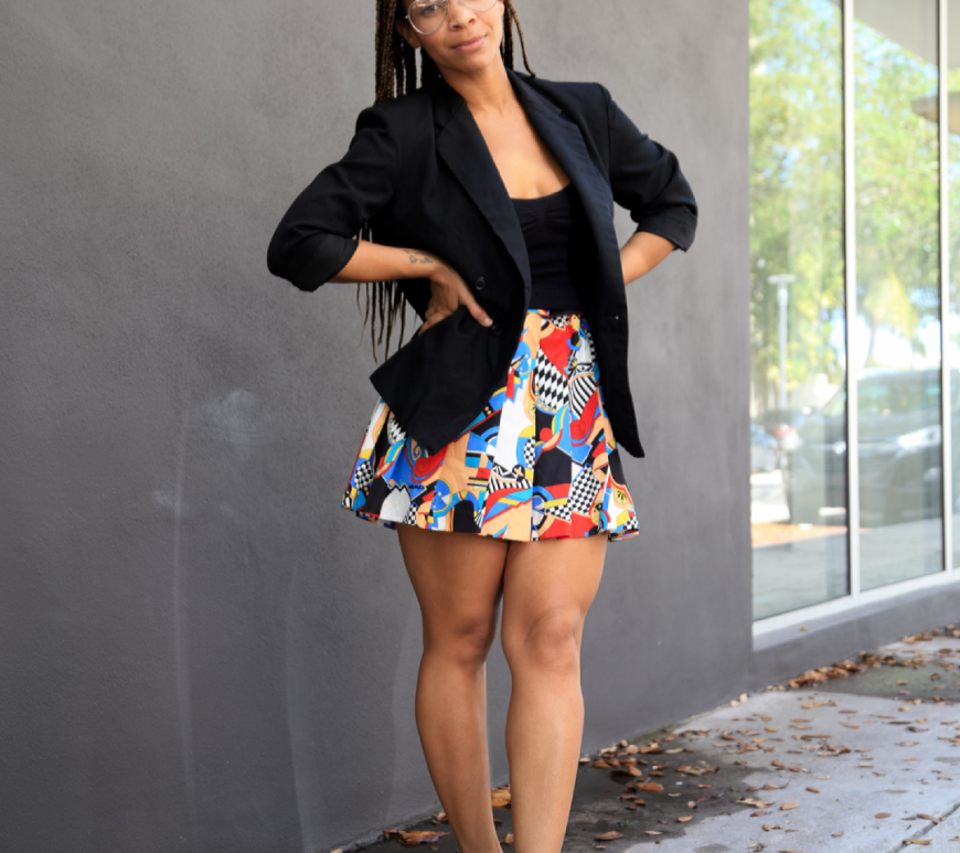 outfit post how to style tennis skirt and blazer iwannabealady.com